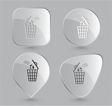 Bin. Glass buttons. Vector illustration. Stock Illustration - 14404551