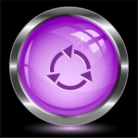 reserve: Recycle symbol. Internet button.