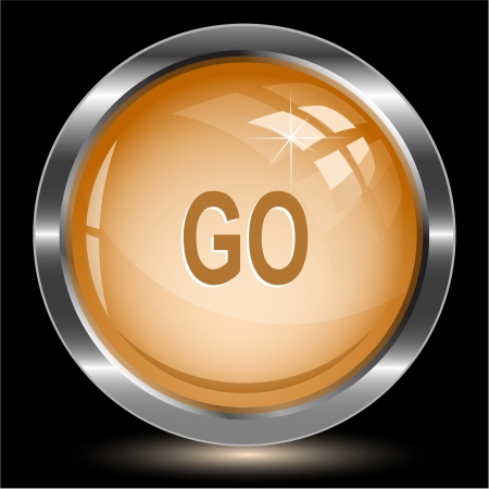 Go Internet button Stock Photo - 15426123
