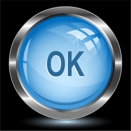 Ok. Internet button.  Stock Photo - 15426188