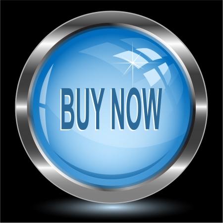 Buy now. Internet button. Vector illustration. Stock Illustration - 15450717