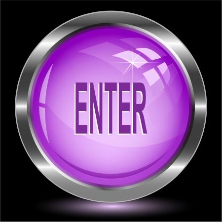 Enter. Internet button. Vector illustration. Stock Illustration - 15450715