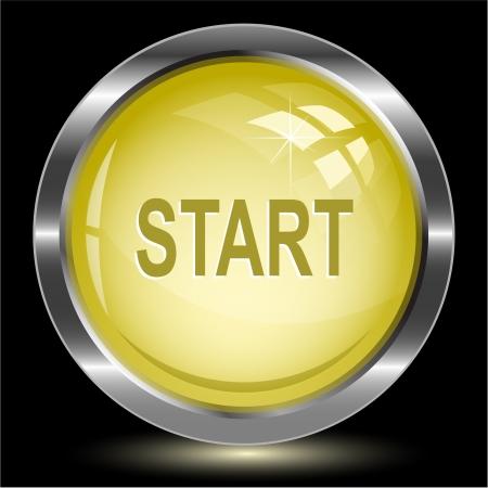 Start. Internet button. Vector illustration. Stock Illustration - 15450700