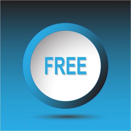 Free. Plastic button. Vector illustration. Stock Illustration - 15450684