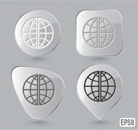 Globe. Glass buttons Stock Photo - 15469753