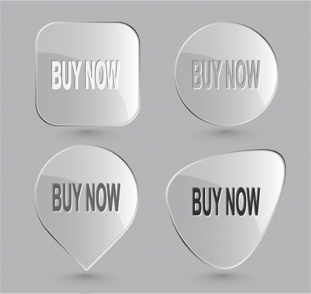 Buy now. Glass buttons photo