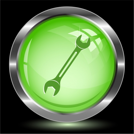 Spanner. Internet button photo