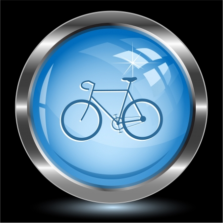 Bicycle. Internet button photo