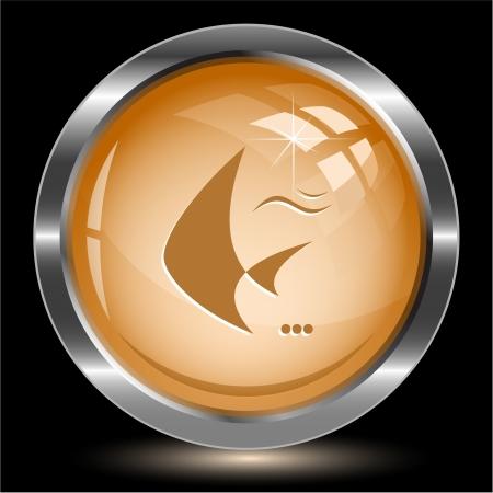 spawn: Fish. Internet button Stock Photo