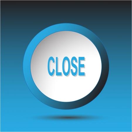 inaccessible: Close. Plastic button.  Stock Photo