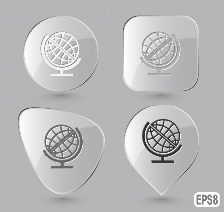 Globe. Glass buttons. Vector illustration. Stock Illustration - 15536865