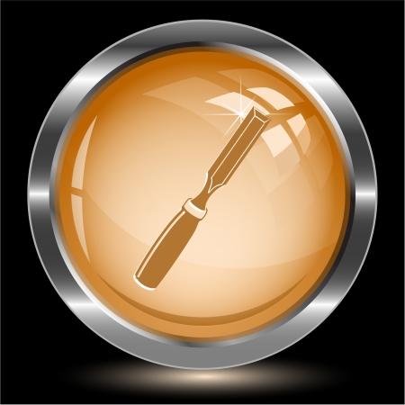 Chisel. Internet button. Vector illustration. illustration