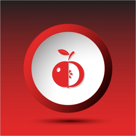 Apple. Plastic button. Vector illustration. Stock Illustration - 15536813