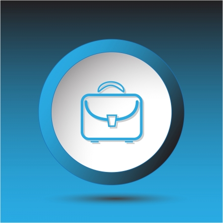 Briefcase. Plastic button. Vector illustration. Stock Illustration - 15536863
