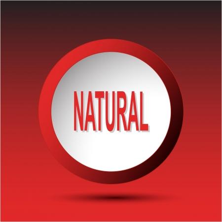 Natural. Plastic button. Vector illustration. Stock Illustration - 15536853
