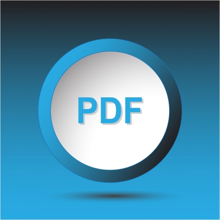 Pdf. Plastic button. Vector illustration. Stock Illustration - 15536855