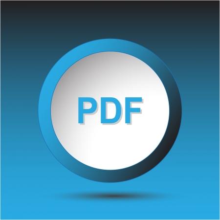 descriptor: Pdf. Plastic button. Vector illustration.