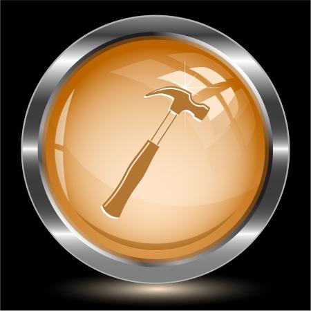 Hammer. Internet button.  photo
