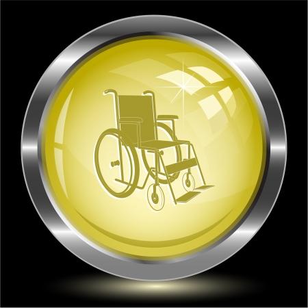 Invalid chair. Internet button.  photo