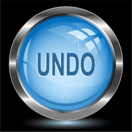 Undo. Internet button. photo