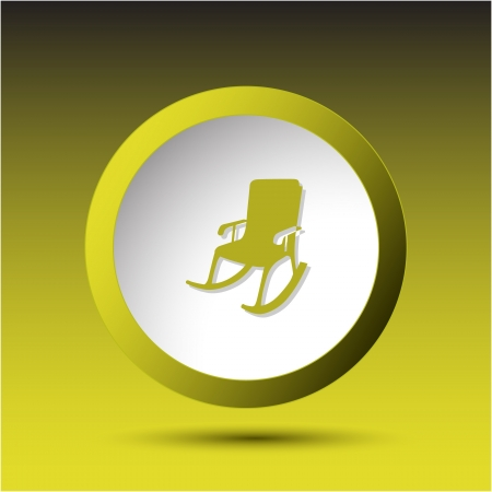 incurved: Armchair. Plastic button.  Stock Photo