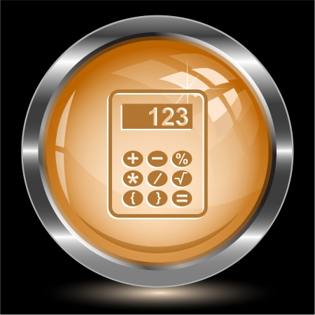 Calculator. Internet button. Vector illustration. Stock Illustration - 15568338