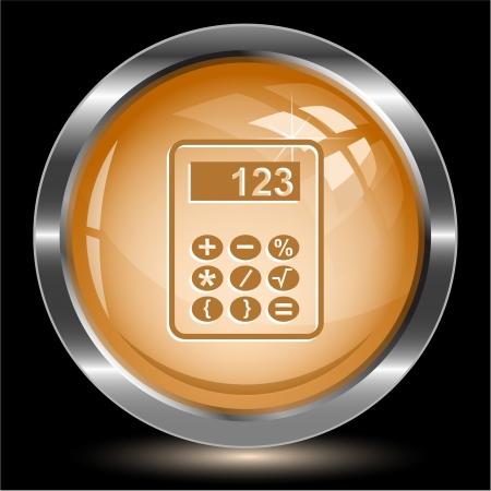 Calculator. Internet button. Vector illustration. Stock Illustration - 15568338