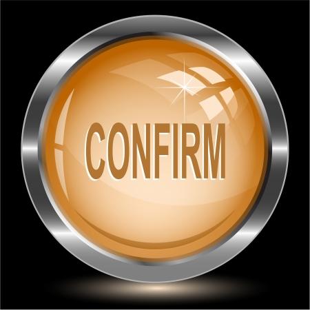 Confirm. Internet button. Vector illustration. Stock Illustration - 15568332