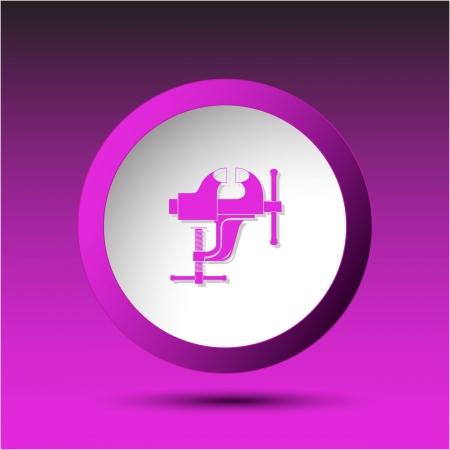 tighten: Clamp. Plastic button. Vector illustration.