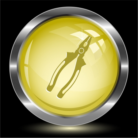 Combination pliers. Internet button. Stock Photo - 15590709