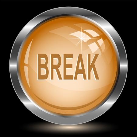 undoing: Break. Internet button.  Stock Photo
