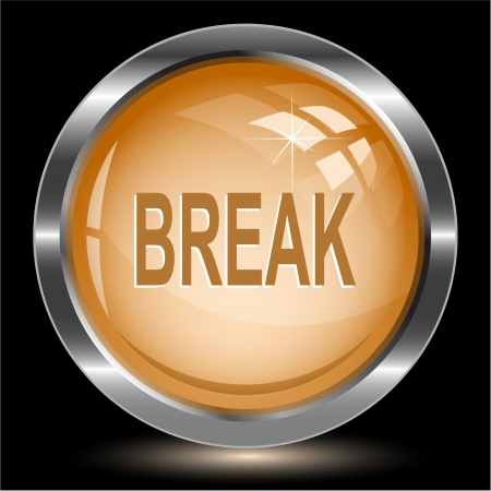 disabling: Break. Internet button.  Stock Photo