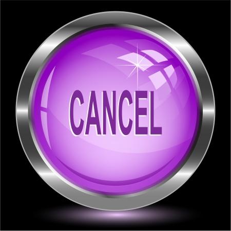 undoing: Cancel. Internet button. Stock Photo