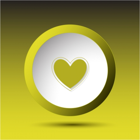 incurved: Heart. Plastic button.