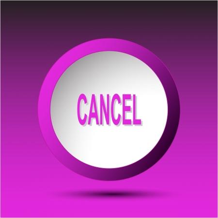 undoing: Cancel. Plastic button.  Stock Photo