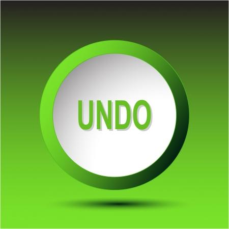 undoing: Undo. Plastic button.