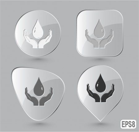 Protection blood Glass buttons Stock Photo - 15615924