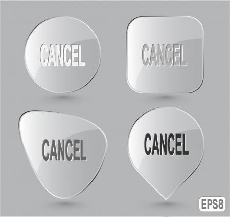 undoing: Cancel Glass buttons