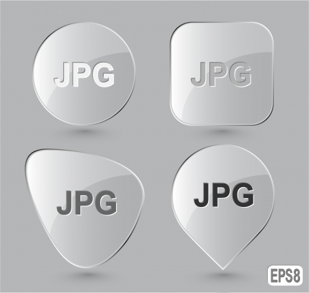 extention: Jpg. Glass buttons Stock Photo