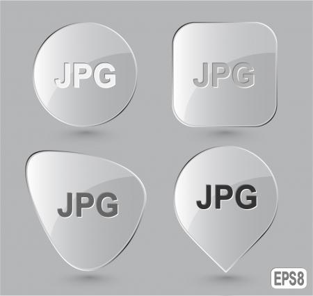 descriptor: Jpg. Glass buttons Stock Photo