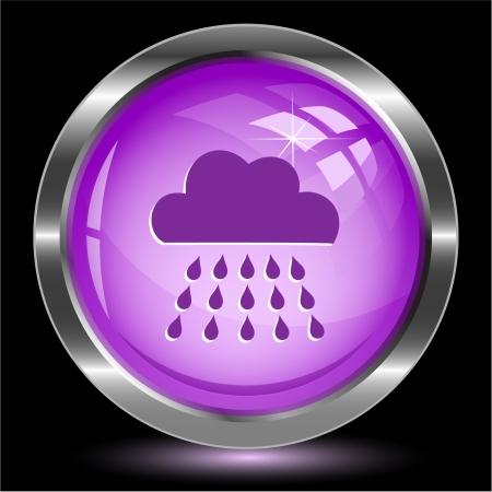 nimbi: Rain  Internet button  Vector illustration
