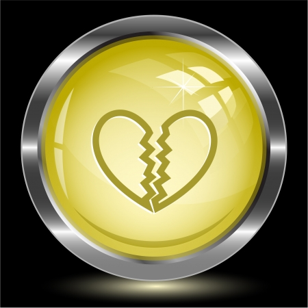 Unrequited love Internet button Stock Photo - 15615937