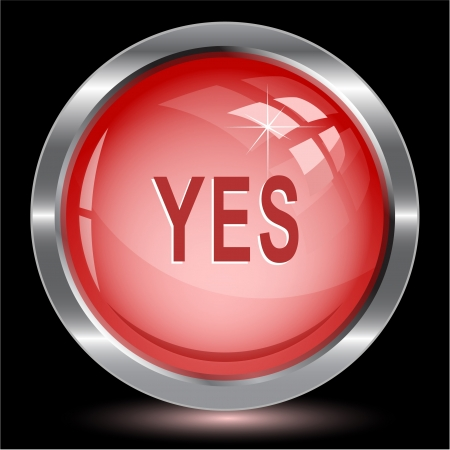Yes Internet button Stock Photo - 15615939