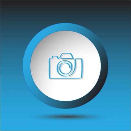 Camera Plastic button Stock Photo - 15615926