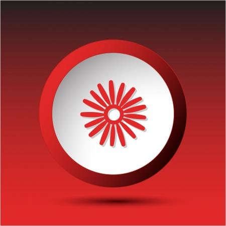 Camomile Plastic button Stock Photo - 15615922
