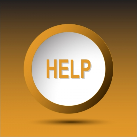 Help Plastic button Stock Photo - 15615916