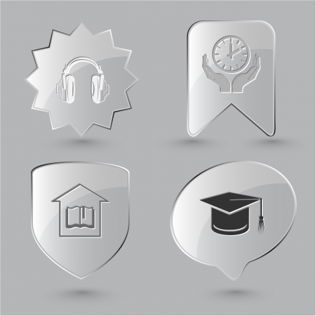 Education icon set photo