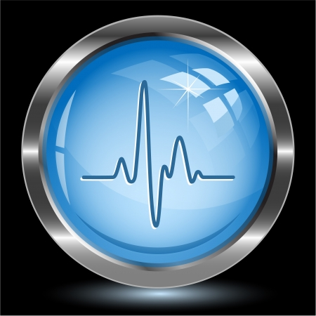 Cardiogram. Internet button photo