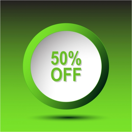 50% OFF. Plastic button photo