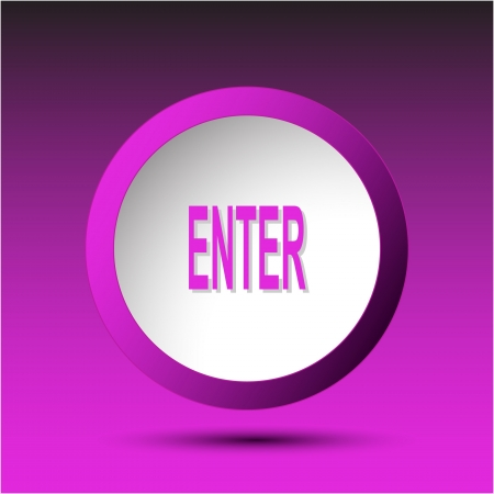 Enter. Plastic button Stock Photo - 15673453